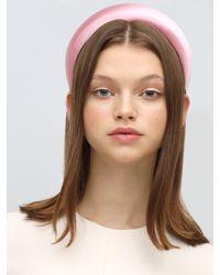 Prada シルクサテン カチューシャ - ピンク