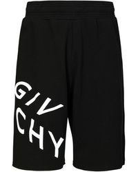 Givenchy - Shorts In Jersey Di Cotone Con Logo - Lyst