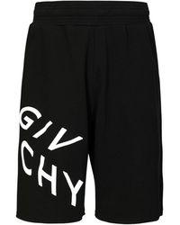 Givenchy Шорты Из Хлопкового Джерси - Черный