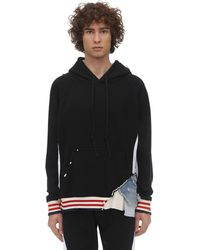 Greg Lauren - Borg Cotton Sweatshirt Hoodie - Lyst