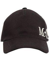 Alexander McQueen Кепка Из Хлопка - Черный