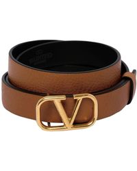 Valentino Vlogo レザーベルト 20mm - ブラウン