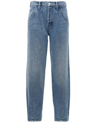 Mother The Bounce Hover Dart Baggy Jeans - Blue