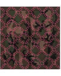 Valentino Schal Aus Seide Mit Logo - Mehrfarbig