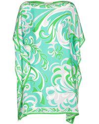 Emilio Pucci Мини-платье С Принтом Из Шелка - Зеленый