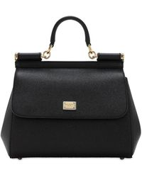 Dolce & Gabbana - Medium Sicily Dauphine Leather Bag - Lyst