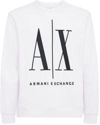 Armani Exchange コットンジャージースウェットシャツ - ホワイト