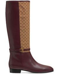 Gucci Ботинки Из Кожи И Холста Finn 20мм - Многоцветный