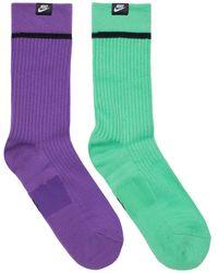Nike 2 Pairs Crew Socks - Purple