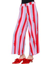 Vivetta - Puck Striped Culottes - Lyst