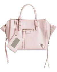 "Balenciaga Mini Tote Aus Leder ""papier A4"" - Pink"