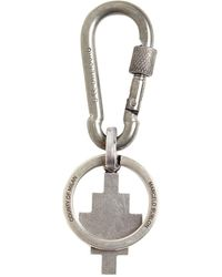 Marcelo Burlon Cross Logo Snap Hoop Key Holder - Metallic