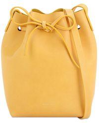 Mansur Gavriel Mini Beuteltasche Aus Pflanzengegerbtem Leder - Gelb