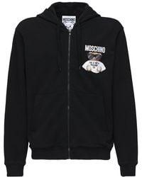 Moschino Свитшот Из Хлопка С Логотипом - Черный
