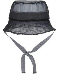 Kangol Gorro Bucket Transparente - Negro