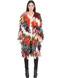 baf5a19cb04de Chloé - Manteau en fil multicolore de soie et laine - Lyst