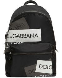 Dolce & Gabbana Mochila De Lona Tech Con Logo - Negro