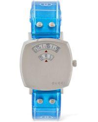 "Gucci 27mm Armbanduhr Mit Gummiband "" Grip"" - Blau"