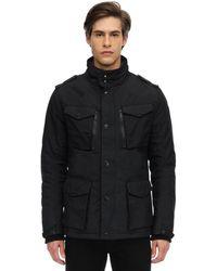 Schott Nyc Nylon Field Jacket - Black