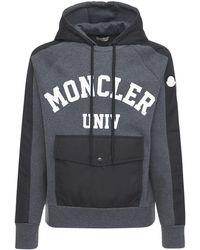 Moncler Logo Cotton Sweatshirt - Черный