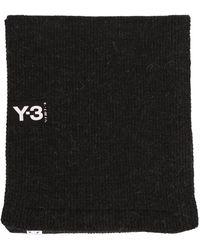 Y-3 Logo Scarf - Black