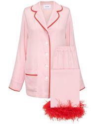 Sleeper Party-pyjama Mit Federn - Pink
