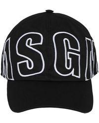 MSGM Baseballkappe Mit Logostickerei - Schwarz