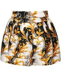 Versace Shorts De Sarga De Seda Estampada - Multicolor