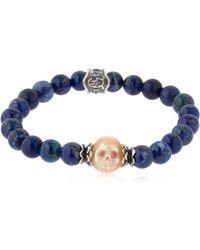 Cantini Mc Firenze - Baroque Skull Lapis Lazuli Bracelet - Lyst