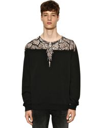 Marcelo Burlon Wings Print Cotton Jersey Sweatshirt - Schwarz