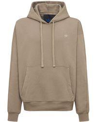 """adidas Originals Kapuzensweatshirt Aus Baumwolle """"essentials"""" - Natur"""