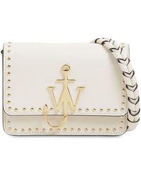 JW Anderson Studded Anchor Logo Leather Bag - Weiß
