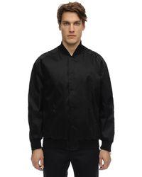 Fendi Куртка-бомбер Из Смешанного Хлопка - Черный