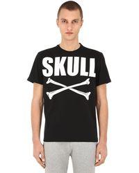 Hydrogen Skull コットンtシャツ - ブラック