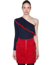 Baum und Pferdgarten - One Shoulder Cotton Blend Sweater - Lyst