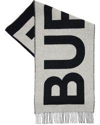 Burberry Шарф Из Кашемира С Логотипами - Черный
