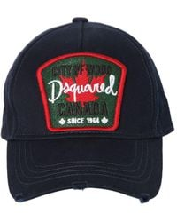 DSquared² - Canada Patch Canvas Baseball Cap - Lyst
