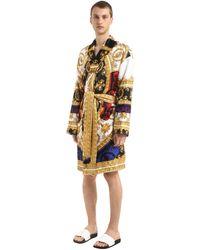 "Versace - Robe De Chambre En Soie Imprimée ""I Love Baroque"" - Lyst"