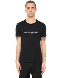 Givenchy T-shirt Cuban In Jersey Di Cotone - Nero