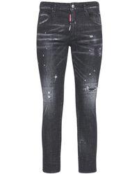 "DSquared² 15cm Jeans Aus Baumwolldenim ""skinny Dan"" - Schwarz"