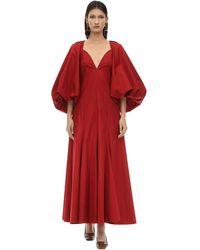 Khaite Robe mit Puffärmeln - Rot