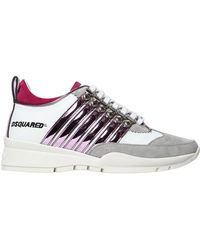 DSquared² - 40mm 251 Metallic Stripes Suede Trainers - Lyst