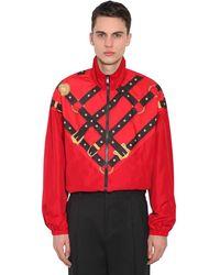 Versace Спортивная Куртка С Принтом Bondage - Красный