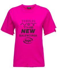 Balenciaga コットンブレンドジャージーtシャツ - ピンク