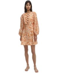 Zimmermann Peggy Scalloped Mini Dress - Orange