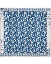 Loro Piana シルクスカーフ - ブルー