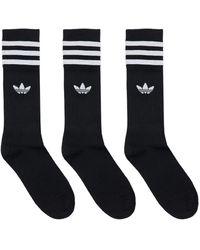 adidas Originals Спортивные Носки 3 Пары - Черный