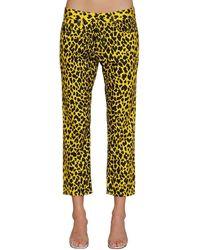 R13 Leopard Print Jeans - Yellow