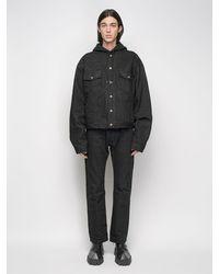 Balenciaga Japanese フーデッドデニムジャケット - ブラック