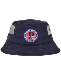 Polo Ralph Lauren P1 Logo Nylon Bucket Hat - Blue